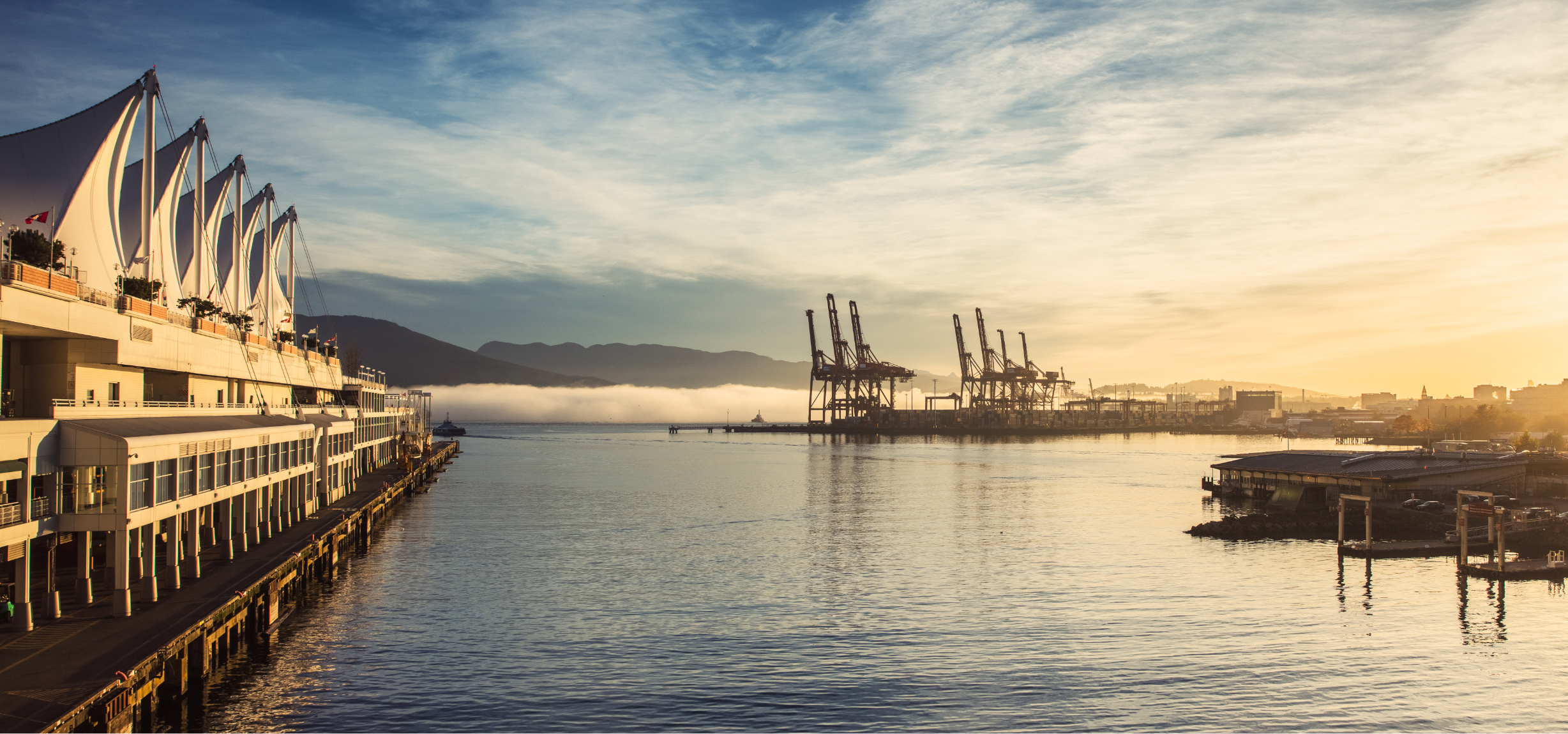 Vancouver Port at sunset
