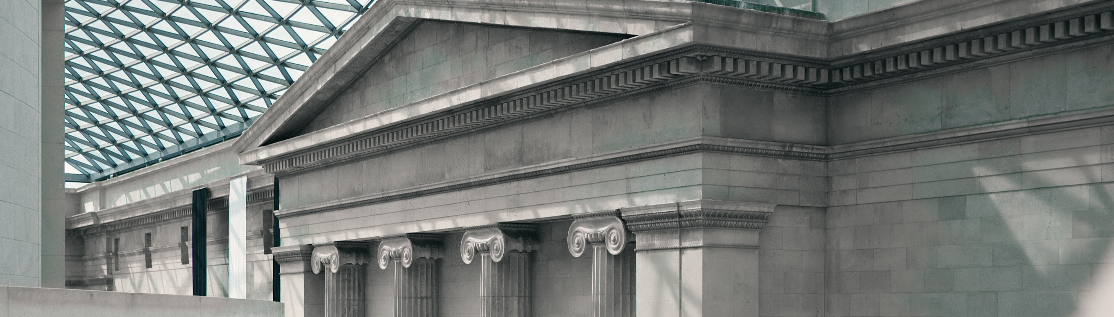 Education institution with columns